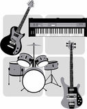 Music_instruments Royalty Free Stock Images