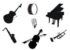 Music instruments. A illustration of music instruments Royalty Free Stock Photography