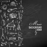 Music Instruments Background Stock Photo