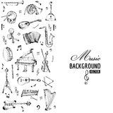 Music Instruments Background Stock Photo