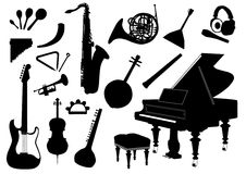 Music instruments Royalty Free Stock Photo