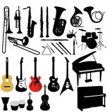 Music instruments collection Stock Photo