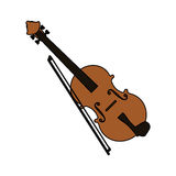 Music instruments design. Fiddle instrument icon over white background. colorful design. vector illustration Stock Image