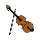 Music instruments design. Fiddle instrument icon over white background. vector illustration Stock Photos