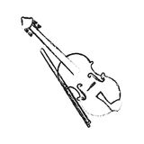 Music instruments design. Fiddle instrument icon over white background. vector illustration Royalty Free Stock Photo