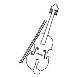 Music instruments design. Fiddle instrument icon over white background. vector illustration Stock Photography