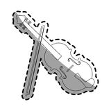Music instruments design. Fiddle instrument icon over white background. vector illustration Royalty Free Stock Photography