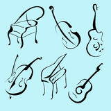 Music Instruments Design Set Royalty Free Stock Image