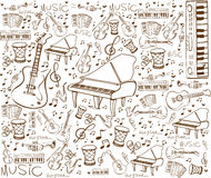 Music Instruments Doodle Stock Photos