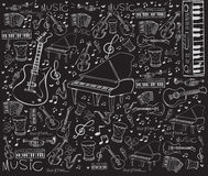 Music Instruments Doodle Stock Images