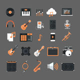 Music Instruments And Equipment Electronics Icons Set Button Collection Royalty Free Stock Image