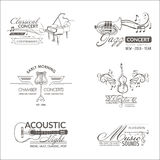 Music and Instruments - Logos and Badges Royalty Free Stock Images