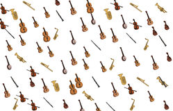 Music instruments pattern Royalty Free Stock Image
