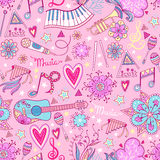 Music instruments pattern background Stock Photography