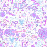 Music instruments pattern Stock Images