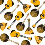 Music instruments pattern. On white background is insulated Royalty Free Stock Photo