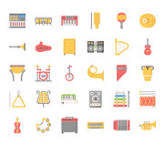 Music Instruments , Pixel Perfect Icons Royalty Free Stock Photos