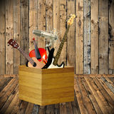 Music instruments for play music. Concept Stock Image