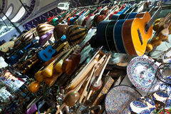 Music instruments shop. Royalty Free Stock Photo