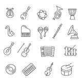 Music instruments. Vector icons Royalty Free Stock Image