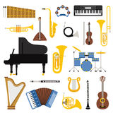 Music instruments vector illustration. Royalty Free Stock Image