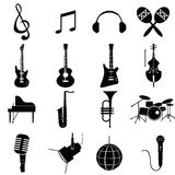 Music instruments vector. Include guitar, cello, piano, drums Stock Photo
