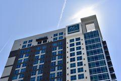 AC Hotel by Marriot, Downtown Nashville, TN stock photos