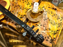 Music interior in old style Royalty Free Stock Photo