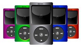 Music iPod set Royalty Free Stock Photography