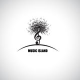 Music Island Stock Photo