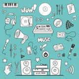 Music items set Stock Photography
