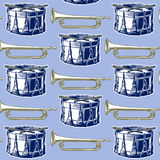 Music jazz band background Stock Images