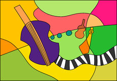 Music jazz cello Stock Image