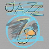 Music jazz grunge paper background. And texture Royalty Free Stock Photo