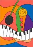 Music jazz guitar Stock Images