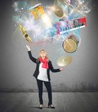 Music juggler Stock Photos