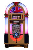 Music Jukebox. Vintage retro jukebox with a United Kingdom flag (isolated Stock Photo
