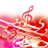 Music. Key of violin with musical notes Royalty Free Stock Image