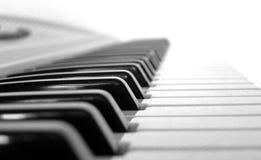 Music Keyboard. Black and white keys stock image