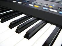 Music keyboard. Detail of a music keyboard royalty free stock image