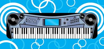 Music keyboard. Illustration of music keyboard with background Royalty Free Stock Photography