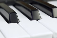Music keyboard. Close-up of the music keyboard royalty free stock photography