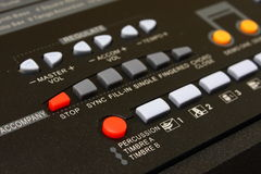 Music Keyboard Control. Music instrument keyboard control panel royalty free stock image