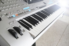 Music keyboard details Stock Photos