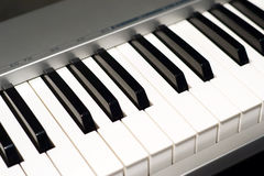 Music keyboard instruments. Black and white Stock Photos