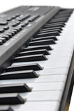 Music keyboard keys Royalty Free Stock Photo