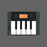 Music Keys Icon Electronic Piano Keyboard Concept Royalty Free Stock Photography