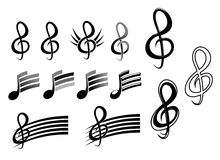 Music keys and notes. As a culture symbols Royalty Free Stock Photography