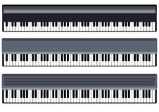 Music. Keys of piano vector object Stock Photography