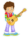 Music kid. The music kid cute cartoon Royalty Free Stock Image